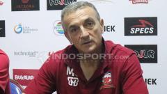 Indosport - Milomir Seslija, yang sempat melatih kursi pelatihan Madura United.