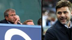 Indosport - Pemilik Chelsea, Roman Abramovich dan Mauricio Pochettino, pelatih Tottenham Hotspur.