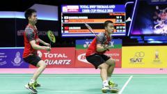 Indosport - Kevin Sanjaya/Marcus Gideon taklukkan Liu Cheng/Zhang Nan.