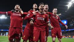 Indosport - Selebrasi para pemain Liverpool.