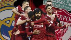 Indosport - Skuat Liverpool vs Real Madrid.