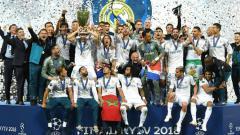 Indosport - Real Madrid saat merah gelar Liga Champions ke-13 nya pada musim 2017/2018.