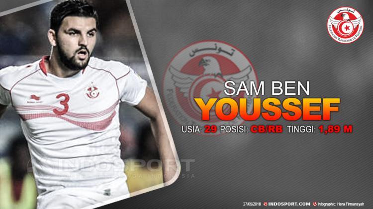Portugal vs Tunisia ( Youssef ) Copyright: Indosport.com