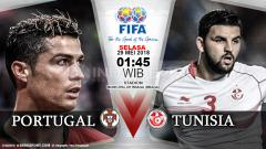 Indosport - Portugal vs Tunisia