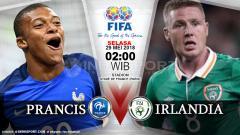 Indosport - Prancis vs Irlandia