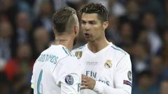 Indosport - Dua bintang Real Madrid, Sergio Ramos dan Cristiano Ronaldo
