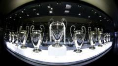 Indosport - Koleksi Trofi Liga Champions Milik Real Madrid.