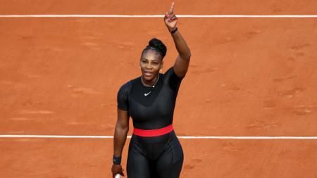 Serena Williams di Prancis Terbuka 2018. - INDOSPORT