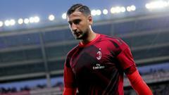 Indosport - Gianluigi Donnarumma, kiper AC Milan.