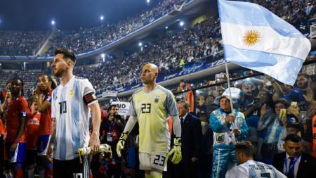 Lionel Messi dalam laga Argentina vs Haiti. - INDOSPORT