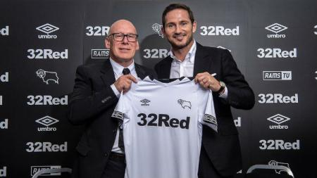 Pelatih Derby County, Frank Lampard. - INDOSPORT