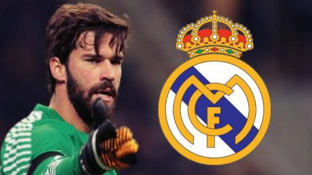 Alisson Becker dikabarkan ke Real Madrid. - INDOSPORT