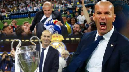 Zinedine Zidane resmi menginggalkan Real Madrid. - INDOSPORT