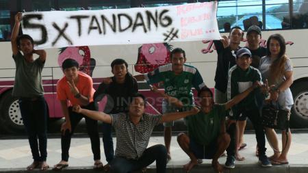 Suporter PSMS Medan. - INDOSPORT