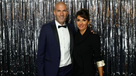 Zinedine Zidane bersama sang istri, Veronique. - INDOSPORT
