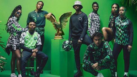 Jersey Nigeria untuk Piala Dunia 2018 langsung ludes dalam hitungan menit. - INDOSPORT