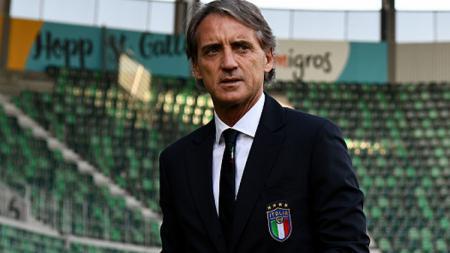 Roberto Mancini, pelatih Timnas Italia. - INDOSPORT