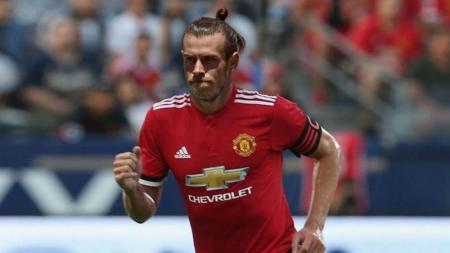 Gareth Bale dengan ilustrasi menggunakan jersey Manchester United. - INDOSPORT