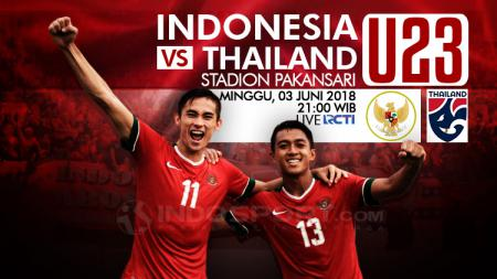 Indonesia U-23 vs Thailand U-23. - INDOSPORT