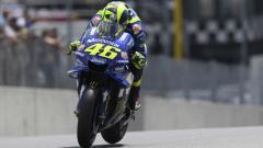 Indosport - Valentino Rossi dalam sesi latihan bebas MotoGP Italia 2018 di Sirkuit Mugello.