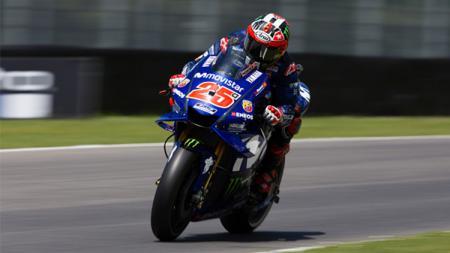 Maverick Vinales, pembalap MotoGP dari tim Yamaha. - INDOSPORT