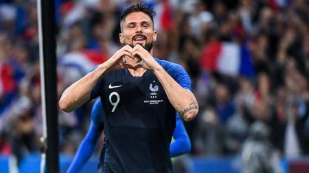 Olivier Giroud, striker Timnas Prancis. - INDOSPORT