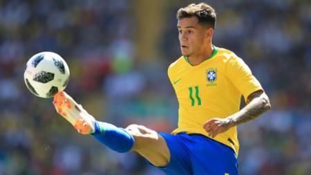 Philippe Coutinho dalam laga Brasil vs Kroasia jelang Piala Dunia 2018. - INDOSPORT