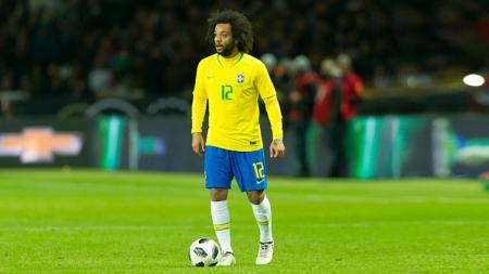 Marcelo, bek kiri Timnas Brasil. - INDOSPORT