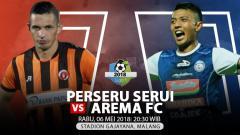 Indosport - Perseru Serui vs Arema FC.