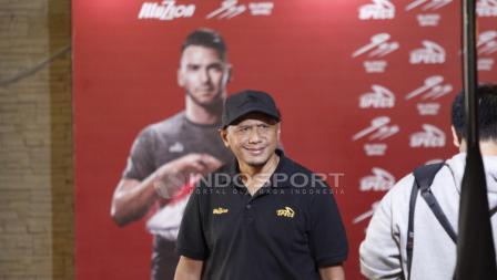 Pelatih Sriwijaya FC, Rahmad Darmawan ikut hadir di acara Specs Illuzion & 9SS 'Super' Simic launch.