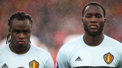 Indosport - Jordan Lukaku dan Romelu Lukaku ketika memperkuat Timnas Belgia.
