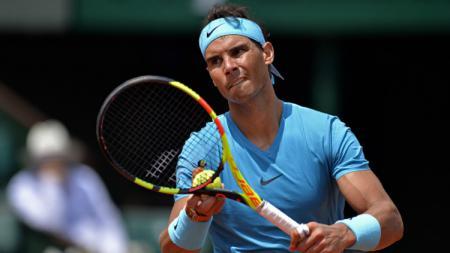 Rafael Nadal melangkah ke perempatfinal Prancis Terbuka 2018 usai kalahkan Maximilian Marterer. - INDOSPORT