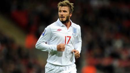 David Beckham saat berseragam Timnas Inggris. - INDOSPORT