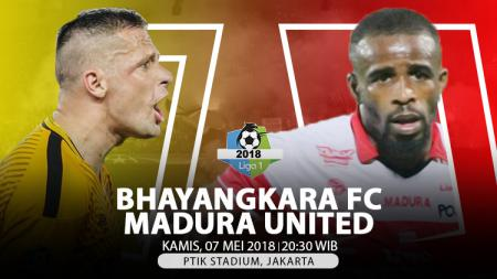 Bhayangkara FC vs Madura United. - INDOSPORT