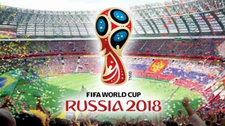 Ilustrasi logo Piala Dunia 2018 di Rusia. - INDOSPORT
