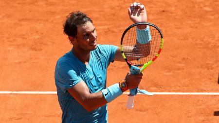 Rafael Nadal melaju ke semifinal Prancis Terbuka 2018. - INDOSPORT