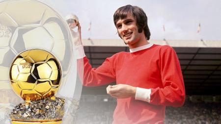 George Best salah legenda sepakbola yang meraih Ballon Dor. - INDOSPORT