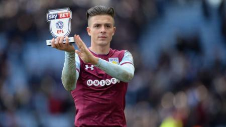 Pemain Aston Villa, Jack Grealish. - INDOSPORT