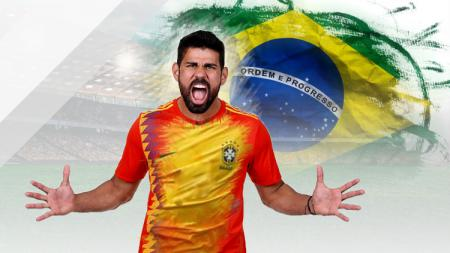 Diego Costa salah pemain asal Brasil yang membela Timnas Spanyol. - INDOSPORT