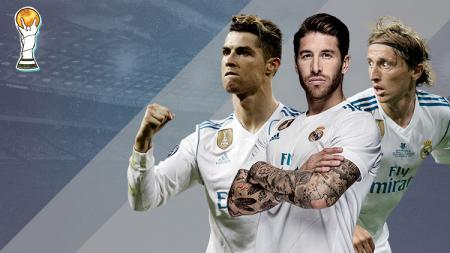 Luka Modric, Sergio Ramos, dan Cristiano Ronaldo. - INDOSPORT