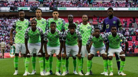 Sesi latihan Timnas Nigeria jelang laga Piala Afrika kontra Burundi harus diwarnai sedikit insiden. - INDOSPORT