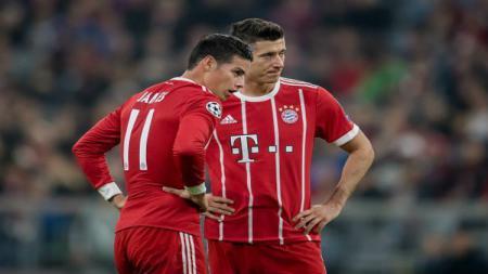 James Rodriguez dan Robert Lewandowski di Bayern Munchen. - INDOSPORT