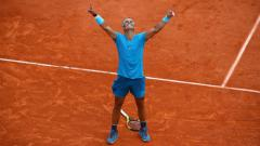 Indosport - Rafael Nadal di final Roland Garros, Paris.