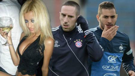Frank Ribery dan Karim Benzema terlibat skandal seks jelang Piala Dunia 2010. - INDOSPORT