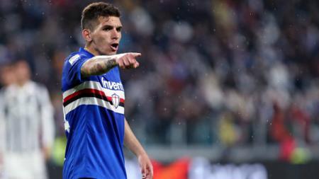 Lucas Torreira gelandang muda Sampdoria asal Uruguay. - INDOSPORT
