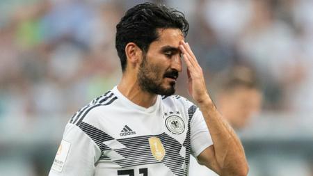 Ilkay Gundogan dalam laga persahabatan Jerman vs Arab Saudi jelang Piala Dunia 2018. - INDOSPORT