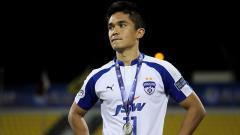 Indosport - Sunil Chhetri, pemain Timnas India yang membela Bengaluru FC.