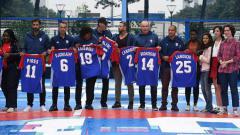Indosport - Zinedine Zidane menghadiri event mengenang 20 tahun Timnas Prancis juara Piala Dunia 1998, Paris, Senin (11/06/18).