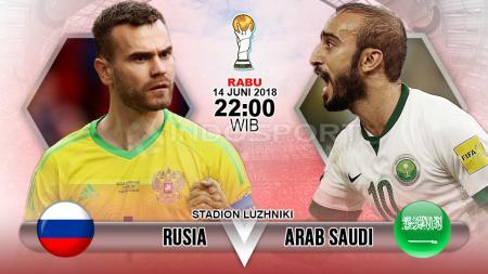 Prediksi pertandingan Piala Dunia 2018 antara Rusia vs Arab Saudi. - INDOSPORT