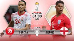 Indosport - Tunisia menghadapi Inggris di penyisihan Grup G Piala Dunia 2018.